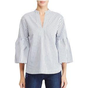 Lauren Ralph Lauren | White Striped Blouse | M